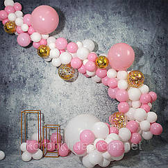 Фотозона - арка з повітряних кульок своїми руками - рожева