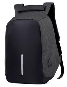 """Рюкзак ПРОТИКРАДІЙ Bobby 15,6"""" c захистом від кишенькових злодіїв і з USB зарядним пристроєм Dark Grey (12880)"""
