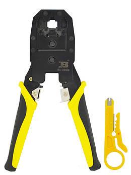 Обтискні кліщі Bosi Tools BS-D3468 (кримпер) для обпресування штекера витої пари (5777)