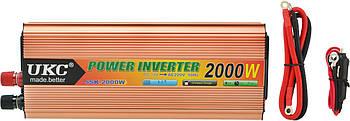 Перетворювач напруги(інвертор) UKC 12-220V 2000W + USB Gold (0791)