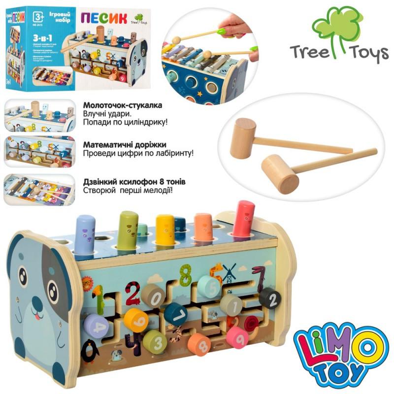 Деревянная игрушка Центр развивающий лабиринт,стучалка,ксилофон,в кор,