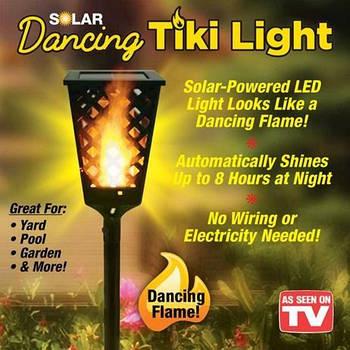 Уличный фонарь на солнечной панели Tiki Light