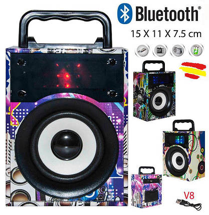 Портативна Bluetooth колонка, радіо, фото 2