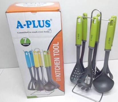 Кухонный набор A Plus из 7 предметов. Лопатки для кухни, фото 2