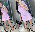 Жіноче коттоновое сукня-сорочка, фото 5