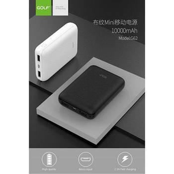 Внешний аккумулятор   Портативные зарядки   Power Bank GOLFG62 10000 mah