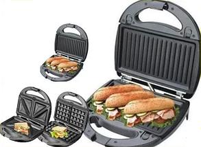 ГРИЛЬ Wimpex австрія 3в1 бутербродниця гриль, вафельниця, фото 2
