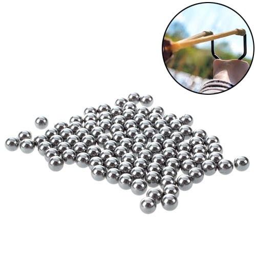 Шарики стальные 7.3мм для рогатки арбалета 100шт, 103593