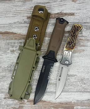 Тактичний ніж Gerber 810 в комплекті з універсальним викидним ножем АК-29 / 21 см1
