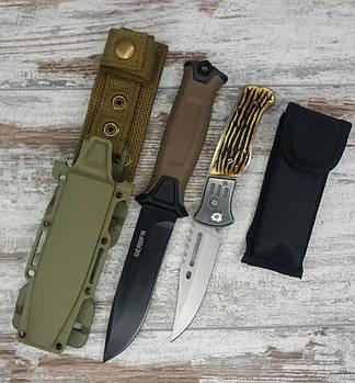 Тактичний ніж Gerber АК-207 в комплекті з універсальним викидним ножем АК-29 / 21 см1