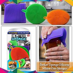Набір універсальних силіконових щіток - губок Better Sponge