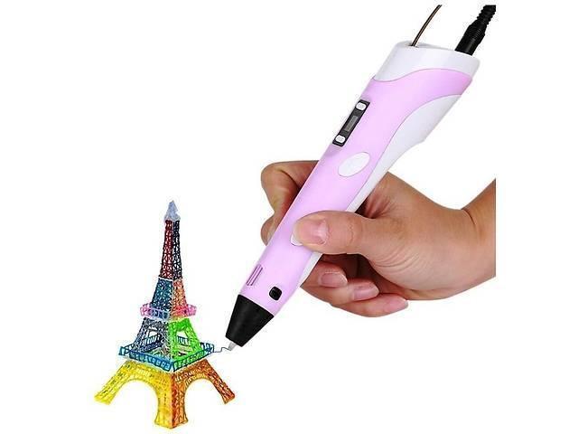 3Д ручка с LCD дисплеем Smart 3D pen-2 розовая