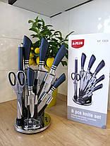 Набор ножей А-Плюс 8 предметов с вращающейся подставкой, фото 2