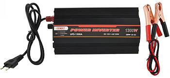 Перетворювач напруги(інвертор) UKC 12-230V 1300W + USB з зарядкою акумулятор Black (7060)