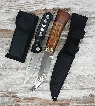 Мисливський ніж COLUNBIA 22,5 СМ / 742 в комплекті з універсальним викидним ножем D-888 / 20 см1