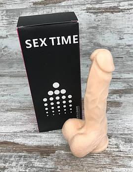 Фалоімітатор силіконовий на присосці 17х4, кращі інтимні секс іграшки для жінок1