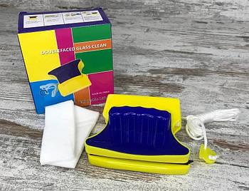 Магнітна щітка Double Faced Clean Glass для миття скла з двох сторін одночасно, прилад для миття вікон1