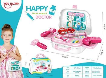 """Дитячий валізку """"HAPPY DOCTOR"""" 13 деталей / набір доктора"""