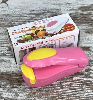 Ручний домашній mini запаювач поліетиленових пакетів Maiesta Запаювач плівок Пристрій для запаювання1