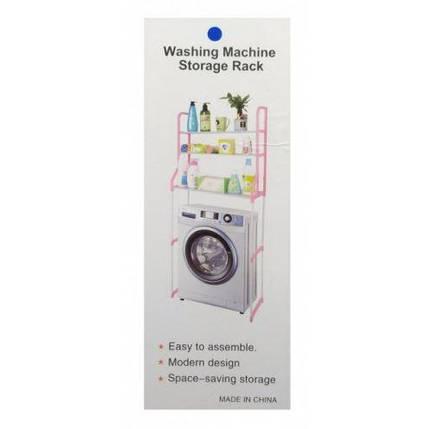 Полка-стеллаж над стиральной машиной напольная тумба 152 см Белая, фото 2