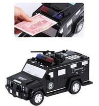 Скарбничка-сейф з кодовим замком і відбитком пальця машинка Hummer Cach, фото 3