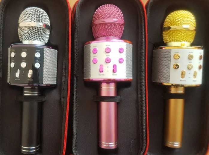 Бездротовий мікрофон Bluetooth USB WS-858 в чохлі