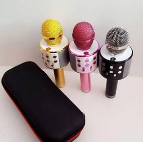 Бездротовий мікрофон Bluetooth USB WS-858 в чохлі, фото 2