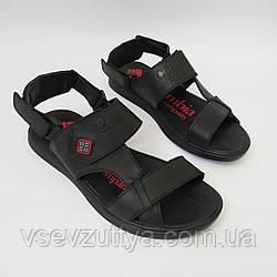 Босоніжки, сандалі, шльопанці чоловічі шкіряні чорні 44