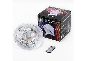 Світлодіодний дискошар в патрон LED UFO Bluetooth Crystal Magic Ball E27