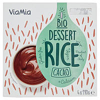 Десерт рисовый КАКАО органический, 4 по 110 г, Via mia