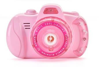 Детский фотоаппарат для мыльных пузырей BUBBLE CAMERA Pink (14758)