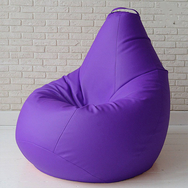 Кресло груша бескаркасное для детей и взрослых бинбэг Kospa фиолетовый 105х85