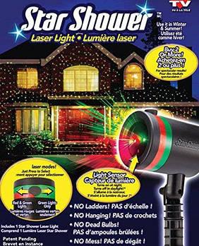 Лазерний зоряний проектор star shower laser light для будинку і вулиці