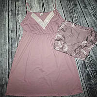 Компект халат і нічна сорочка Стрикоза (чайна троянда)