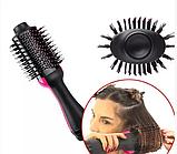 ОПТ Фен щітка One Step Hair Dryer & Styler Стайлер для укладання волосся 3в1 Гребінець з феном чорна, фото 2
