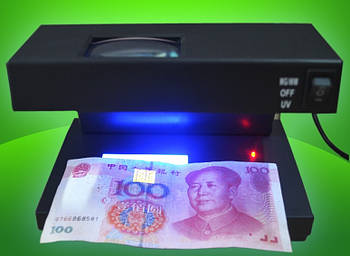Детектор валют 3 режими Ультрафіолет Оптика Білий
