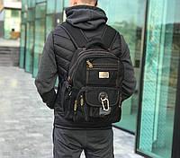 Якісний брезентовий рюкзак Gold Be чорний