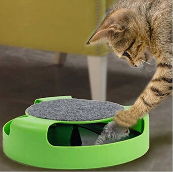 Іграшка для котів (Кіт і Миша) з когтеточку Fine Pet