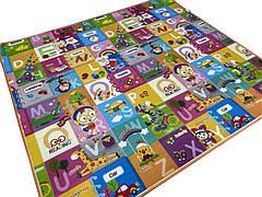 Детский развивающий термо коврик двухсторонний Английский алфавит/Панда 200x180x1 см