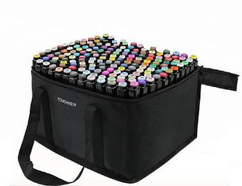 Набір скетч маркерів для малювання Touch Sketch 168 шт двосторонні фломастери чорний корпус