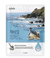 """Тканевая маска """"Экстракт ласточкиного гнезда"""" Esfolio Bird's Nest essence mask sheet"""