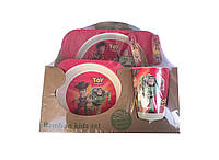 Набор детской посуды 5 предметов из бамбука История игрушек