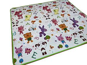 Детский развивающий термо коврик двухсторонний Дорога/Зверьки 200x180x0.5 см, фото 3