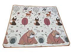 Детский развивающий термо коврик двухсторонний Львенок/Мишка 200x180x1 см
