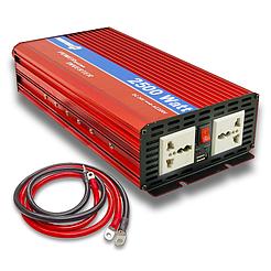 Портативный преобразователь напряжения 12/220 POWERone PLUS PI-2500. Инвертор 2500 Вт, для аккумуляторов