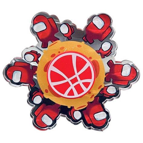 Іграшка-антистрес спинер з анімацією героя animated амонг ас among us red, фото 2