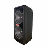 Портативная колонка Bluetooth на аккумуляторе Party box 2 микрофона 1000W широкого спектра использования 1010, фото 3