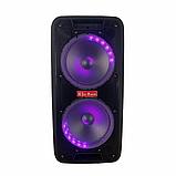 Портативная колонка Bluetooth на аккумуляторе Party box 2 микрофона 1000W широкого спектра использования 1010, фото 7