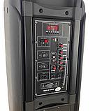 Портативная колонка Bluetooth на аккумуляторе Party box 2 микрофона 1000W широкого спектра использования 1010, фото 5