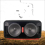 Портативная колонка Bluetooth на аккумуляторе Party box 2 микрофона 1000W широкого спектра использования 1010, фото 10